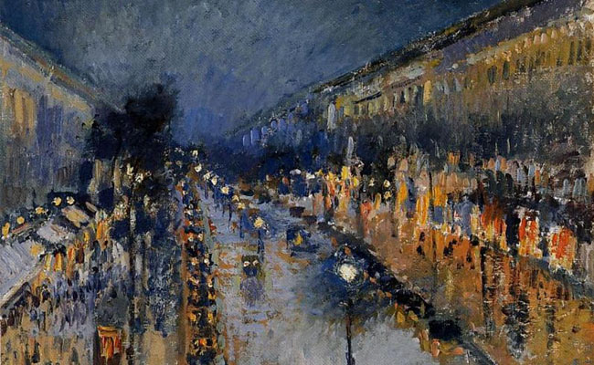 Pisarro-the-boulevard-montmartre-at-night-1897-Cropped